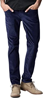 Match Men's Slim-Tapered Flat Front Casual Corduroy Pants #8052