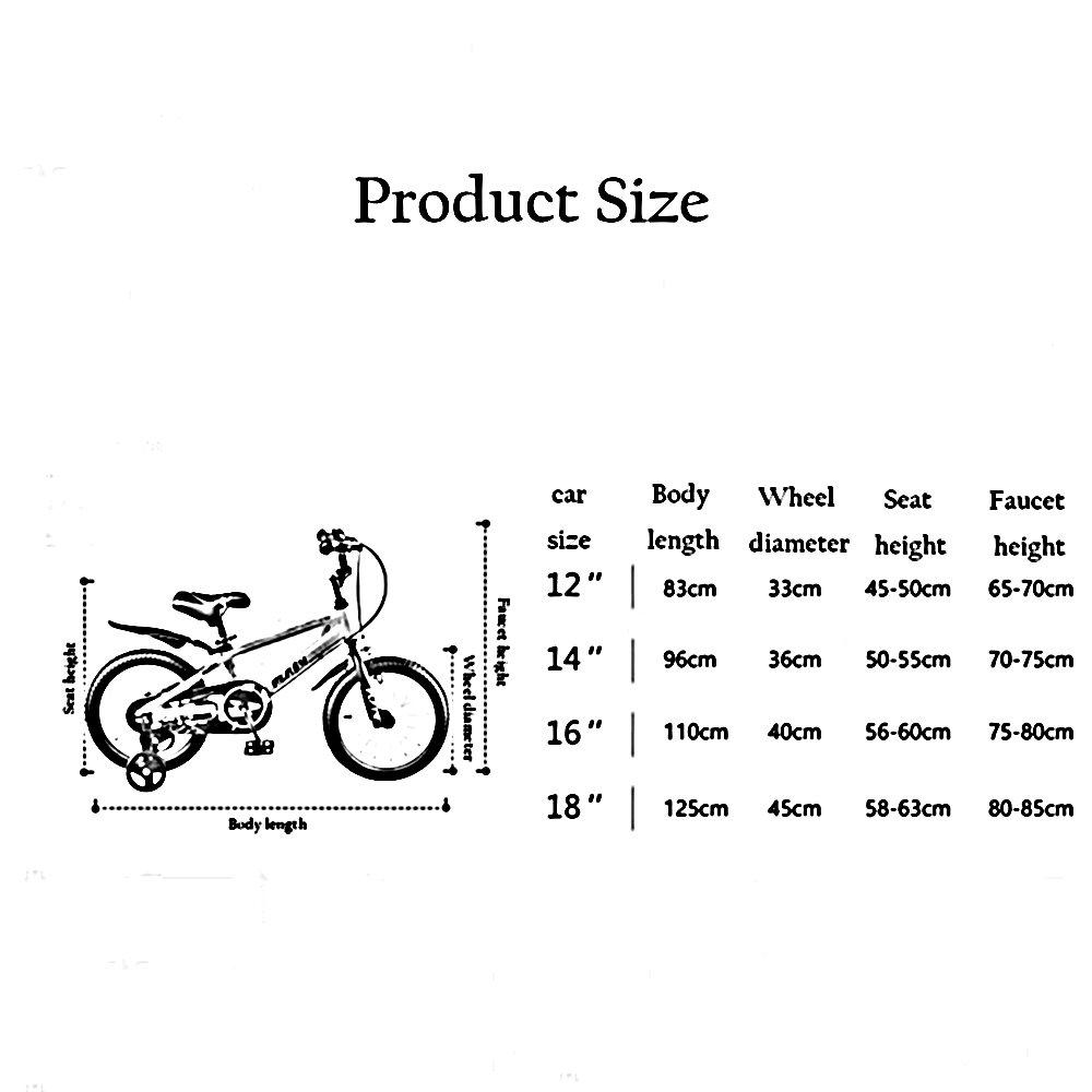 Bicicletas para niños Feifei Carro de bebé 12/14/16/18 Pulgadas ...