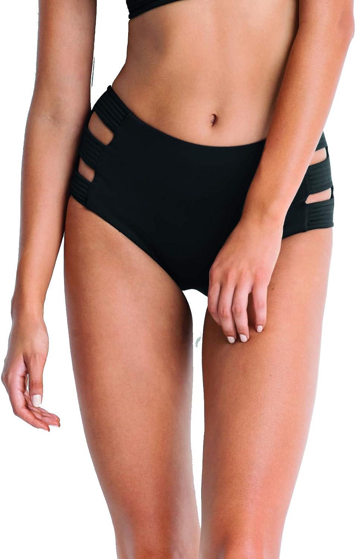 Seafolly Women's Standard Quilted High Waisted Bikini Bottom Swimsuit