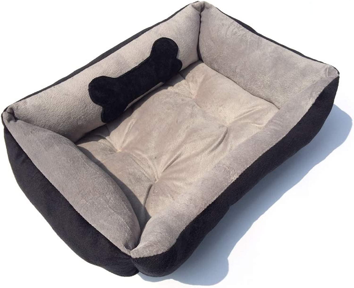 Dog Bed, Premium Short Plush Pet Bed, Black Super Soft Short Plush, Washable, Not Removable, Extremely Soft and Comfortable  The Ultimate Luxury Home for Small and Medium Sized Pets Pet Supplies