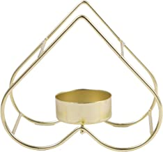 Candle Holder, Love Metal Candle Holder, Golden Aroma Candle Holder Table Decoration, Home Decoration Accessories (11.5X 1...