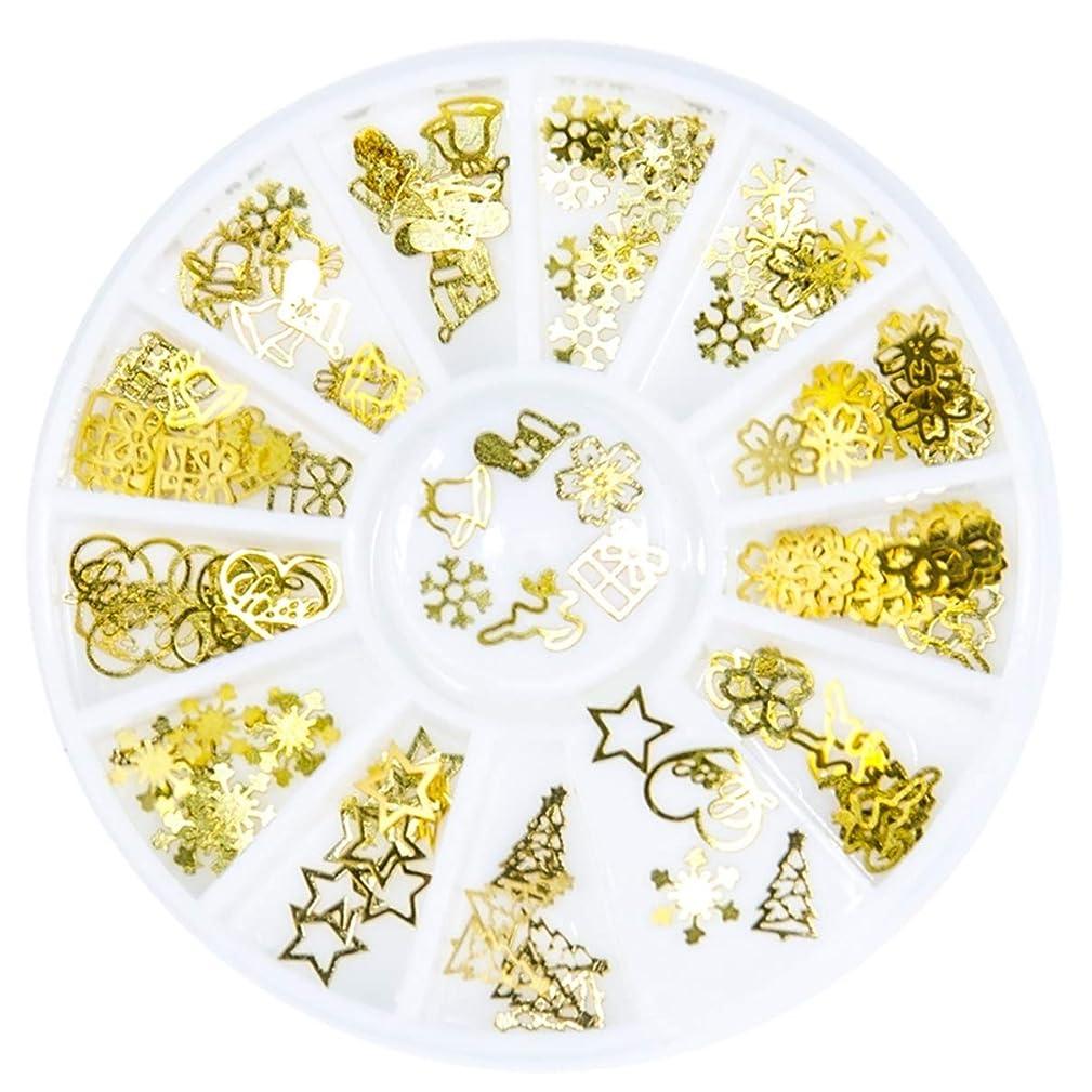 1 Pcs Christmas Tree Bell Snowflake Flower Nails Art Rhinestone Gold Metal Professional Crystals Beads Fingernail Designs Cool Popular Small Acrylic Glitter Gel Holiday Decor Kids DIY Tool Kits