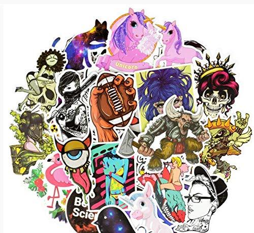 Mixed Sticker Anime Graffiti Animal Pvc Decals Stickers Diy Laptop Travel Case Motorcycle Helmet Bike Guitar 50 Pcs