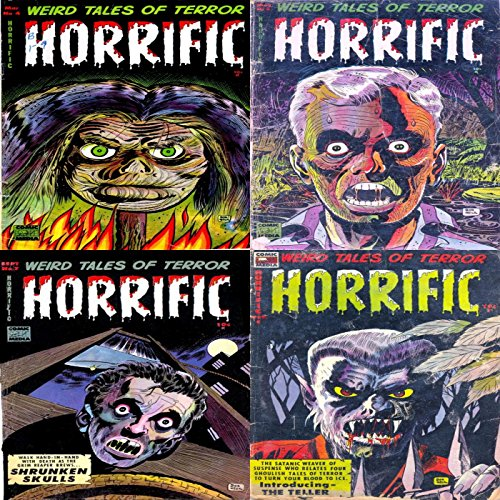 Horrific. Issues 4, 5, 7 and 8. Wird tales of terror. Features shrunken skulls and the teller. Digital Sky Comic Compilations Paranormal, Horror and Mystery (English Edition)
