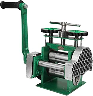 IRONWALLS Manual Rolling Mill Machine Combination Roller Jewelry Press Making Tableting Tool Metal Wide Flat for Jewelers