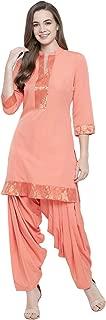 Fabnest Womens Peach Kurta Salwar set