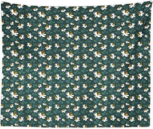 QIAO Tapiz BOT¨¢Nico King Size Flores abstractas Primavera en Flor Naturaleza Impresi¨n Colgante de Pared Colcha Funda de Cama Decoraci¨n de Pared