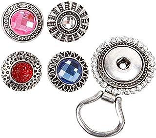 BMC Interchangeable Snap Button Centerpiece Eye Glass Holding Magnetic Brooch