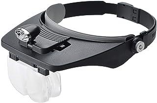 4つの多数のアクリルの拡大鏡が付いている2つの導かれたライトハットの読書レンズ