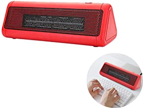 FXQIN Mini Calentador Electrico, 300W Portatil Ventilador Calefactor Estufa de PTC Cerámica, 2 Niveles De Calor, para Espacio Pequeño, Dormitorio, Oficina