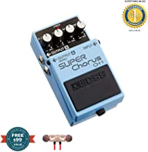 Boss CH-1 Stereo Super Chorus Pedal includes Free Wireless Earbuds - Stereo Bluetooth In-ear and 1 Year Everything Music Extended Warranty