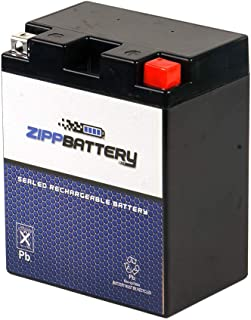 Chrome Battery YTX14AHL-BS Battery- Rechargeable Replacement AGM Motorcycle