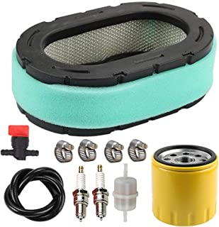 LIYYOO 32-083-09-S Air Filter with 52 050 02-S Oil Filter Spark Plug Tune Up Kit for Kohler 32 083 09 32 883 09-S1 KT610 KT620 KT715 KT725 KT730 KT735 KT740 KT745 19HP-26HP Engine MTD Lawn Mower