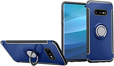 UNIYA Galaxy S10e Case, Dual Layer Hybrid PC+TPU with Magnetic Car Patch 360 Rotation Ring Holder Case