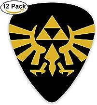 Grace Little The Legend Of Zelda Tri Force Heroes Logo Colorful Celluloid Guitar Picks Plectrums For Guitar Bass 12 Pack
