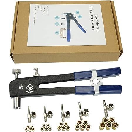 110 /®Rivet Nut Tool Set Riveting Nuts,6//86 //110 pcs Heavy Duty Hand Blind Riveter Kit Tools Wrench Threaded M3 M4 M5 M6 M8,Durable Robust Steel Aluminum Rivets Tool Set