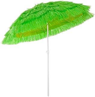 Deuba Sombrilla de Playa jardín Exterior Ø 160 cm Hawaii Color Verde con función de inclinación Parasol reclinable