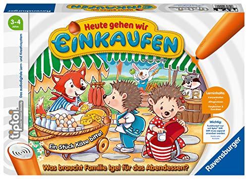 """Ravensburger tiptoi 00041 - """"Heute gehen wir einkaufen"""" / Spiel von Ravensburger ab 3 Jahren / Laufe zum Markt und kaufe die Zutaten für dein Lieblingsgericht"""