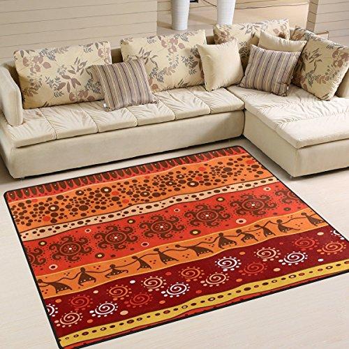 Domoko Use7 Tapis style africain aztèque Tribal pour salon ou chambre à coucher 160 x 122 cm