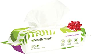 Earth Rated Dog Wipes, Plant-Based and Compostable Wipes for Dogs, USDA-Certified 99 Percent Biobased, Hypoallergenic, 8x8...