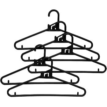 エヌケー ハンガー 『丈夫な日本製 洗濯にも収納にも使える』 クイックハンガー M-5本組 ブラック 141