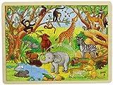 Goki- África Puzzles de Madera, Multicolor (57892)