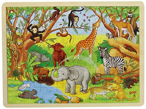 Goki 57892 - Africa, Puzzle, 48 Pezzi