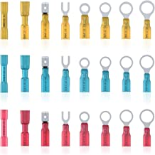 KALIM 120 Pcs Heat Shrink Connector Kit, Insulated Wire Terminals Crimp Ring Set Waterproof, Convenient, Efficient and Safe