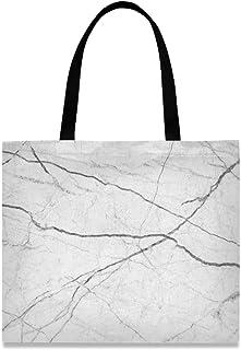 MONTOJ Damen-Handtasche aus Segeltuch, Marmor, Weiß