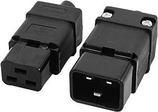 H HILABEE Conector De Alimentaci/ón De CA IEC 320 C19 Hembra C19 16A 250V 20A 125V