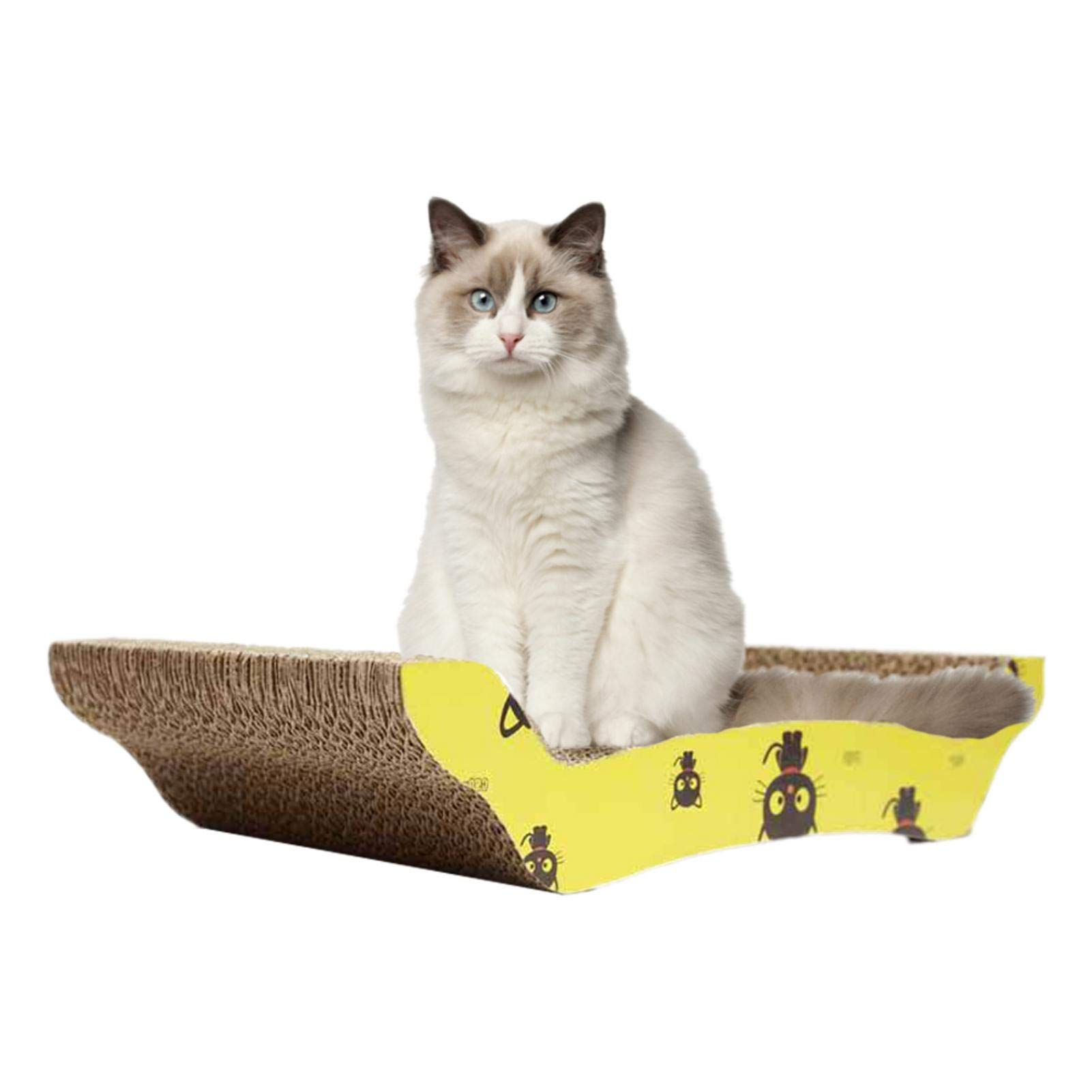 Rascador para Gatos para Cama y Sofá Almohadillas Rascadores para Gatos de Cartón Reciclado Corrugado, 41 X 7.5 X 21cm: Amazon.es: Productos para mascotas