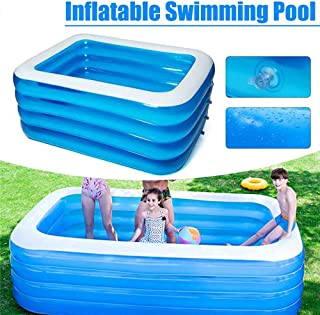 ARTF Piscina inflable, 180x140x75cm plegable familia piscina inflable, inflable piscina for niños, piscinas de la familia infantil for los niños, adultos, bebés, niños pequeños, al aire libre, jardín,