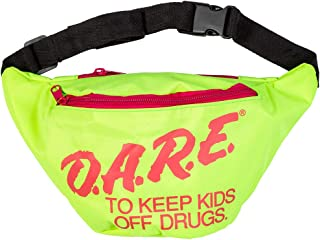 Neon Retro DARE Fanny Pack Waist Bags with Adjustable...