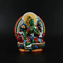 ZGPTX Green Mother Odessa Tibetan Secret Hand-Painted Green Mother Buddha Statue Has to Ask for Peace with The Buddha