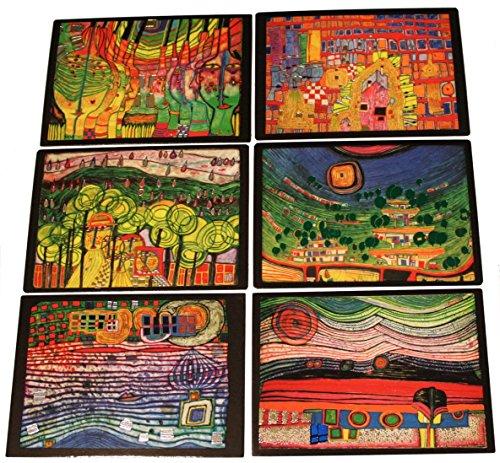 6 Kunstdrucke Kunstkarten Friedensreich Hundertwasser SONDERPREIS!