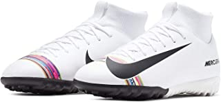 Official Brand Nike Mercurial Superfly Academy Astro Turf Football Trainers Junior White Soccer