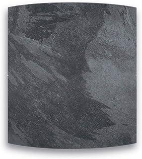 Radiador de inercia de piedra natural – gama Dual Kherr Curve – 1500 W – Negro