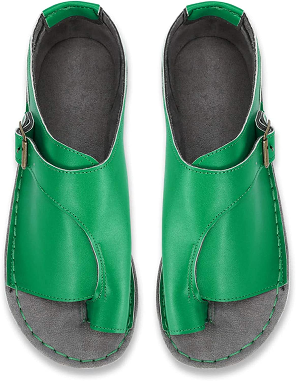 Summer Women Flat Sandals Ladies Pu Leather Open Toe shoes Female Roman Beach shoes Large