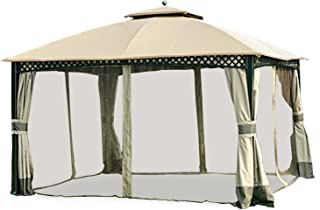 Garden Winds Replacement Canopy and Netting Set for Windsor Dome Gazebo - Riplock 350