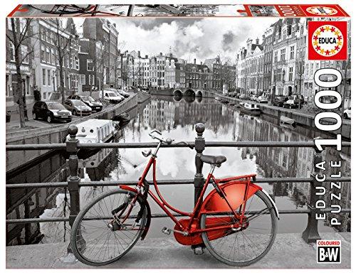Educa Borras - Serie Coloured B&W, Puzzle 1.000 piezas Ámsterdam (14846)