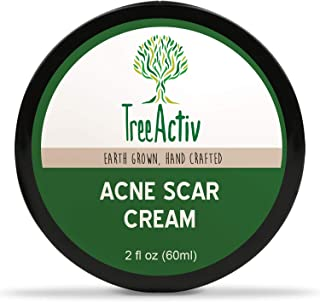 TreeActiv Acne Scar Cream, Fade Away Pimple Marks, Blemishes & Dark Spots, Reduces the Appearance of Old & New Scars, Rosehip Oil, Quaternized Honey, Jojoba Oil, Aloe Vera, Vitamin E (2 fl oz)