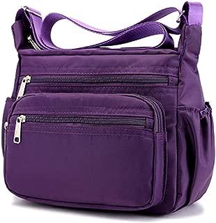Multi Pocket Shoulder Bag,Corss-Body,Purse,Waterproof Nylon Travel Handbags,Handbag for Women,Fashion Waterproof Bag