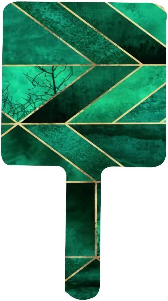 Quality inspection Abstract Nature Emerald Atlanta Mall Green Shams Hand Mi Makeup Square Mirror