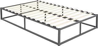 ML-Design metalen bed 120x200 cm op stalen frame met lattenbodem, antraciet, metalen bedframe, robuust, eenvoudige montag...