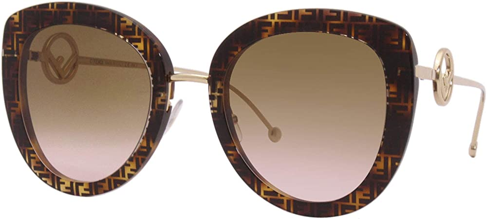 Fendi, occhiali  per il sole da donna, colore lenti marrone FF 0409/S