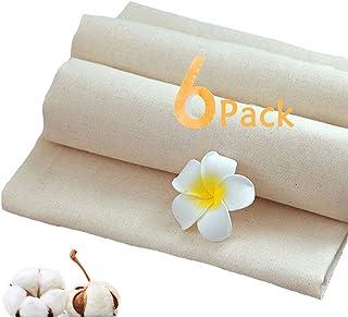 Mousseline doeken voor zeven, 6-delige ultrafijne katoenen ongebleekte kaasdoeken om te koken, herbruikbare zeefdoek filte...