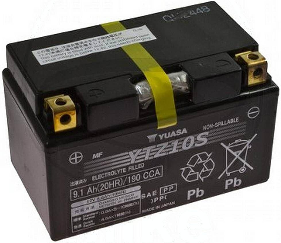 Batterie AGM Honda CBF 600Na ABS 2008–2013YUASA YTZ10S 12V 8,6AH