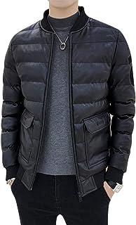 SEA BBOT コート メンズ PUレザーダウンジャケット 中綿 カジュアル 防寒 ライダースジャケット 厚手 防風 大きいサイズ 通勤 冬服