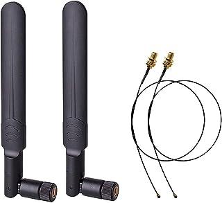 VISSQH 4Pack antenne wifi,2.4GHz 5.8GHz 8dBi SMA Dual-Band Antenna Router ad Alto Guadagno,WiFi Amplificatore di Segnale per routerdi rete wireless//PCI Adapter//IP Camera WiFi Range Extender