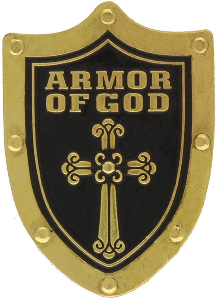 Holy Armor of Store God Shield Cross outlet with Set Pins 8